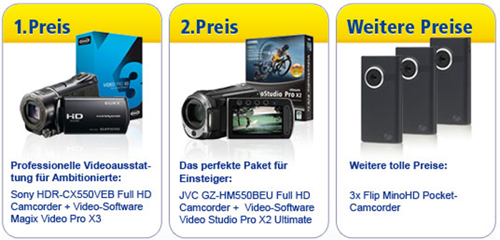 Gewinne beim 1&1 Do-It-Yourself Videocontest