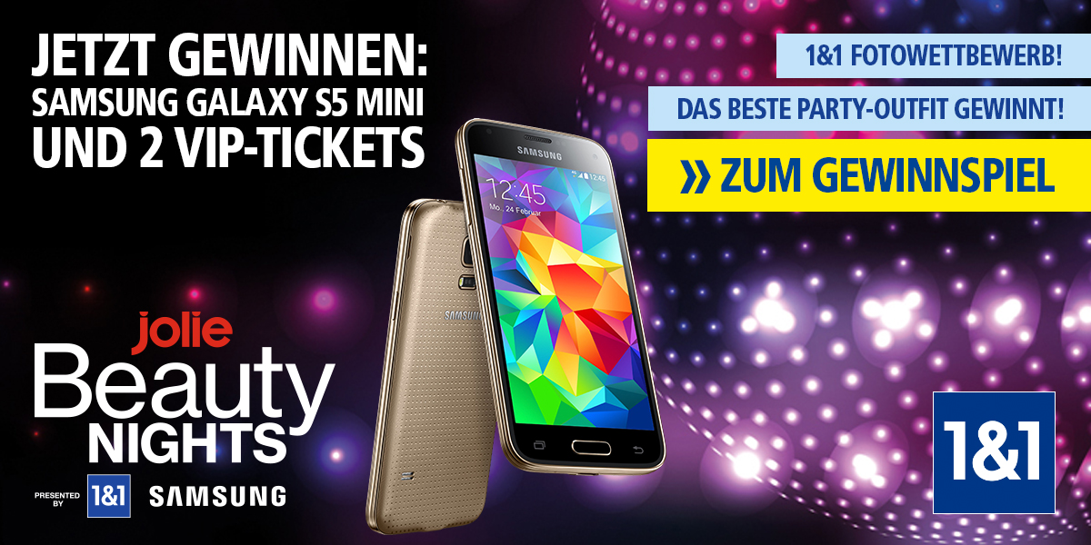 Fotowettbwerb: Samsung GALAXY S5 mini und Jolie BEAUTY Nights
