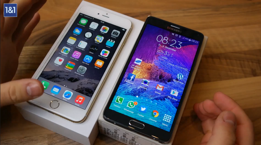 Samsung GALAXY Note 4 vs. iPhone 6 Plus