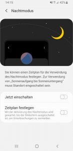 Nachtmodus Android