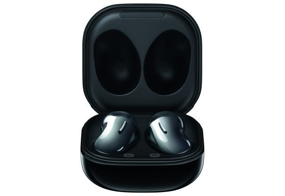Samsung_Galaxy Buds Live_SM-R180_Mystic Black_Ladeetui offen front_CMYK